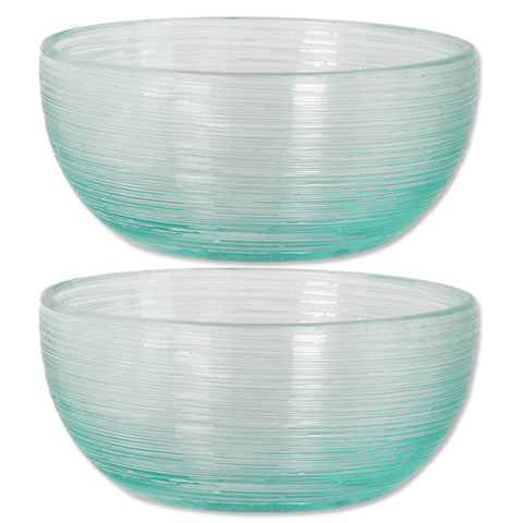 Set of 2 - Scrappy Glass Bowls