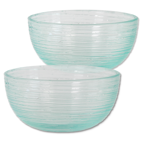 Set of 4  - Scrappy Small Glass Bowls