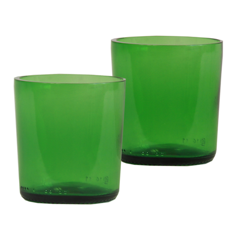 Set of 4 - Recycled Emerald Small Tumblers