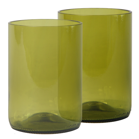 Set of 4 - Recycled Olive Large Tumblers