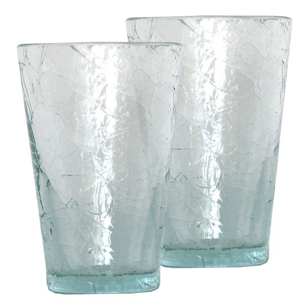 Set of 4 - Scrappy Crackle Tumblers
