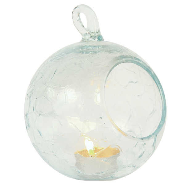Scrappy Glass Candle Globe