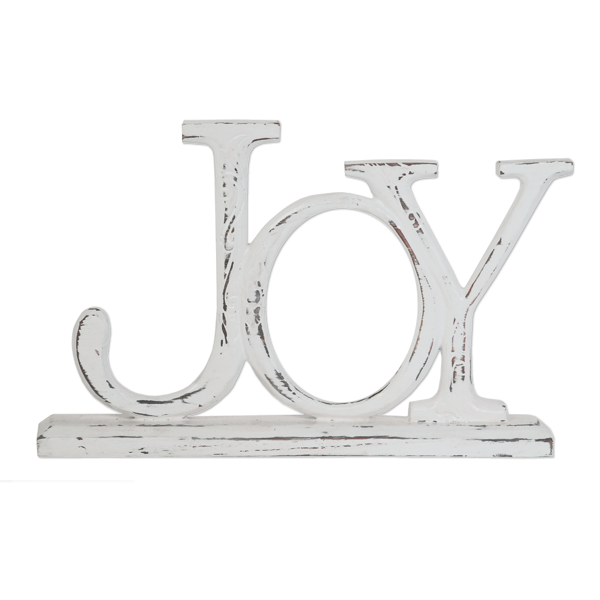 Sustainable Wood Joy Mantel Message
