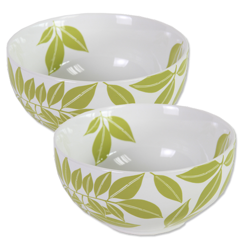 Set of 4 - Celery Java Porcelain Bowls
