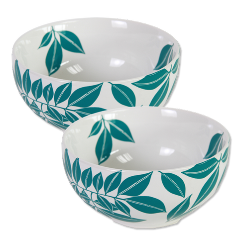 Set of 4 - Teal Java Porcelain Bowls