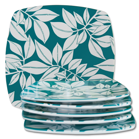 Set of 4 - Teal Java Dessert Plates