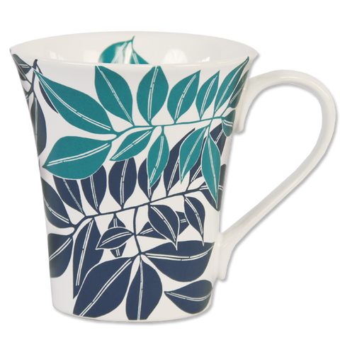 Set of 4 - Teal Indigo Java Mugs