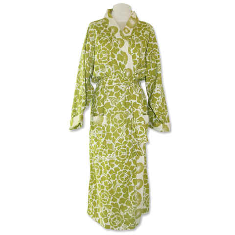 Bali Green Kimono Robe in 2 sizes