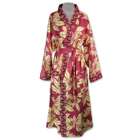 Coral Leaf Kimono Robe in 2 sizes