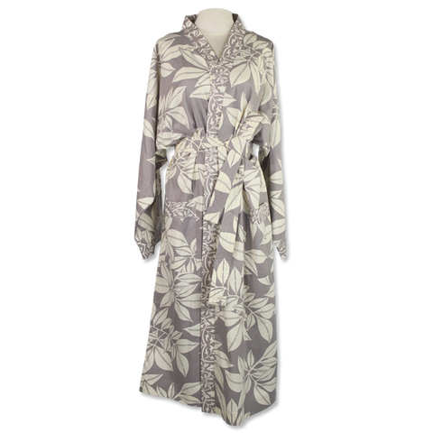 Leaf Grey Kimono Robe in 2 sizes