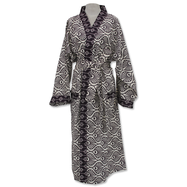 Peacock Plum Kimono Robe in 2 sizes