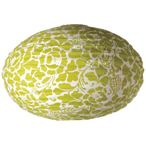 Bali Green oval Lamp Shade