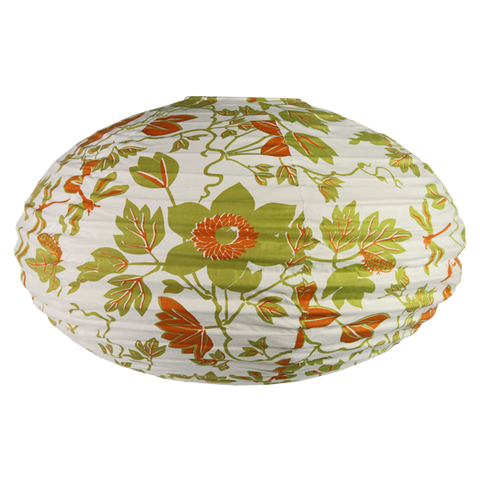 Passion Flower Citrus Oval Lamp Shade