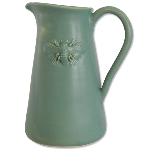 Celadon Bee Pitcher Large