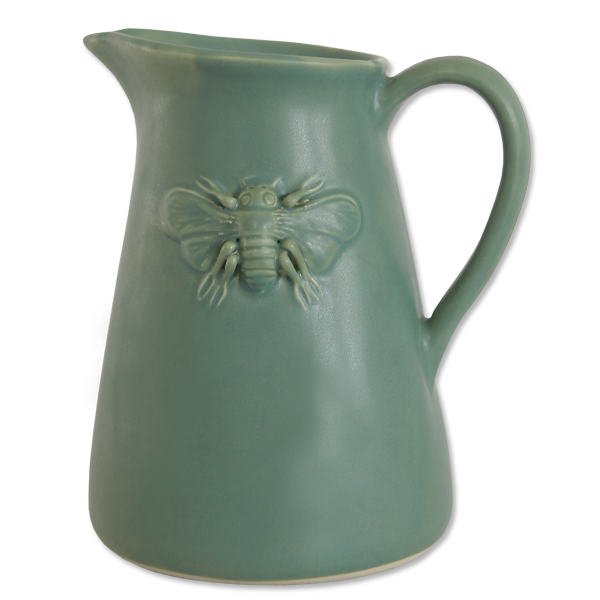 Celadon Bee Pitcher Small