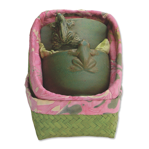 Boxed set of 2 Frog Teacups