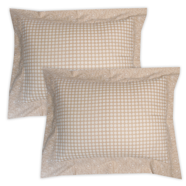 Beige Framed Pillow Sham set of 2