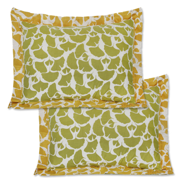 Citrus Gingko Framed Pillow Sham