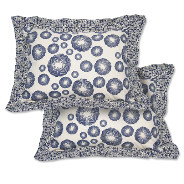Indigo Framed Pillow Sham set of 2