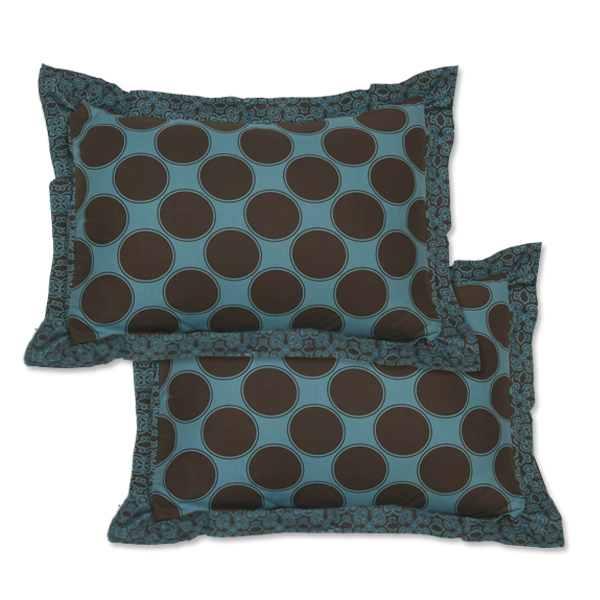 Teal Jewel Framed Pillow Shams