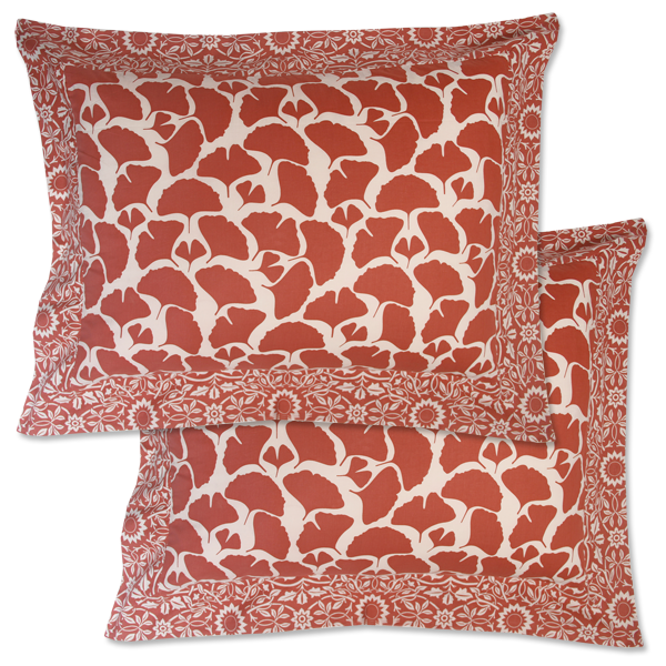 Tumbleweed Coral Framed Pillow Sham
