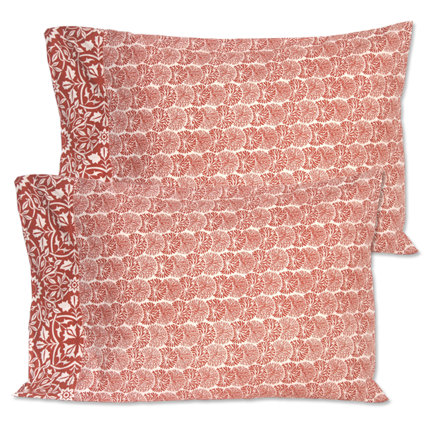 Tumbleweed Coral Standard Pillow Cases set of 2