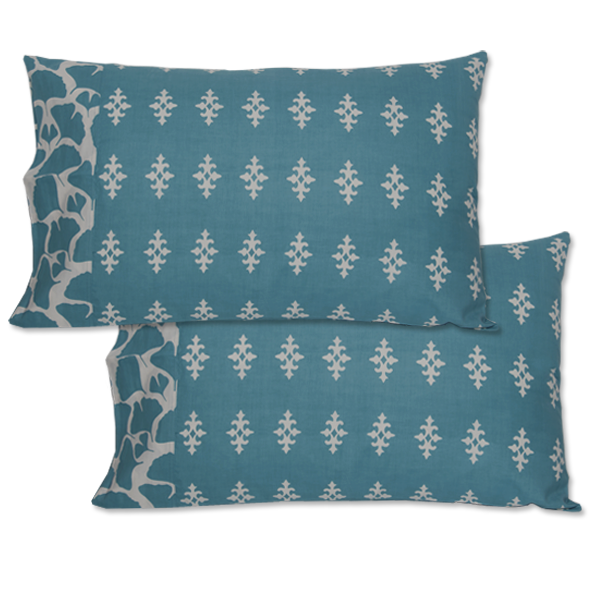 Teal Standard Pillow Cases set of 2