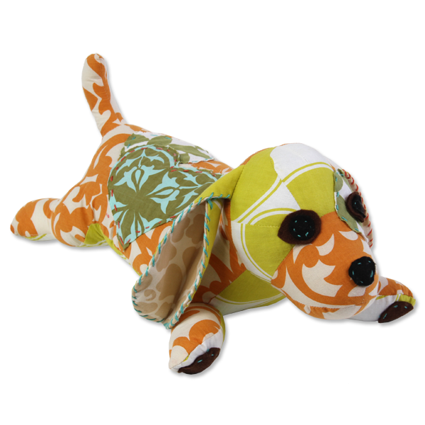 Scrappy Patchwork Dog - Citrus