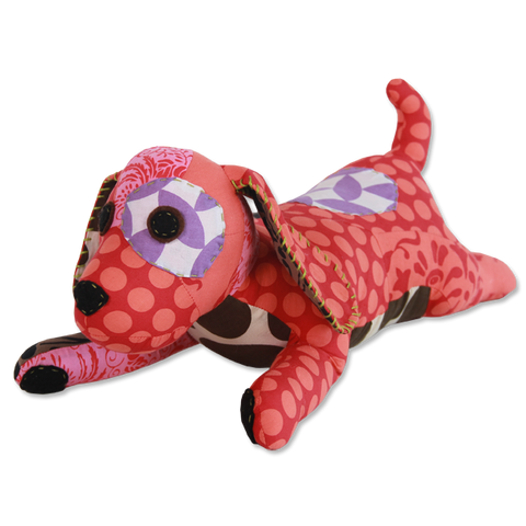 Scrappy Patchwork Dog - Red