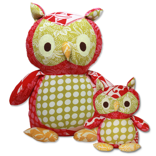 Bright Scrappy Owl in 2 sizes