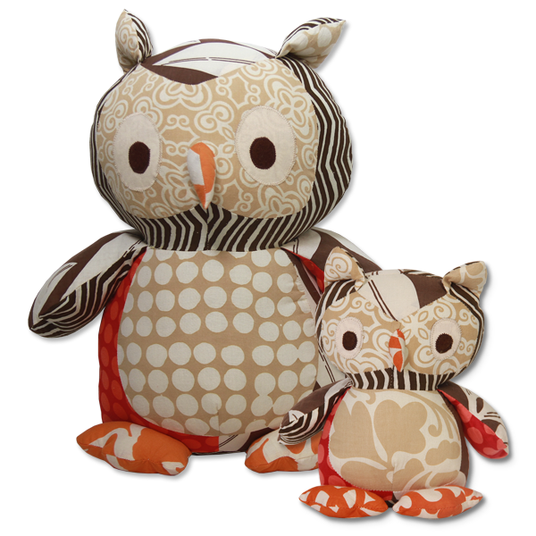 Warm Scrappy Owl in 2 sizes