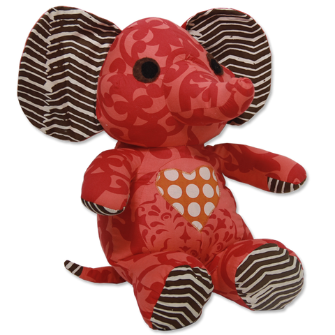 Red Scrappy Elephant in 2 sizes