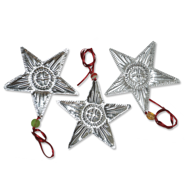 Set of 12 Recycled Aluminum Stars