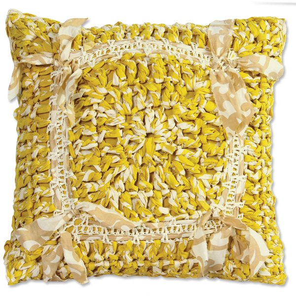 Citrus Crocheted Cushion Cover