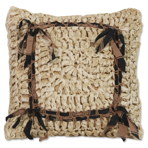 Natural Crocheted Cushion Cover