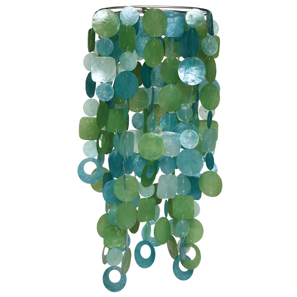 Tide Pool Teal Chandelier Chime