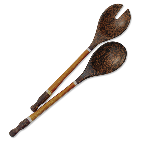 Bronze Capiz Handled Salad Servers