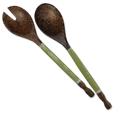Olive Capiz Handled Salad Servers