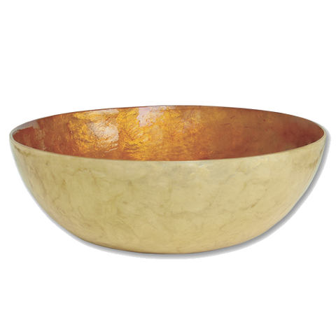 Bronze Capiz Shell Salad Bowl