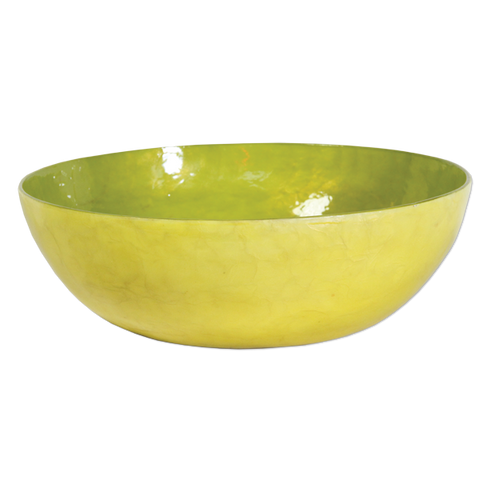 Citrus Capiz Shell Salad Bowl