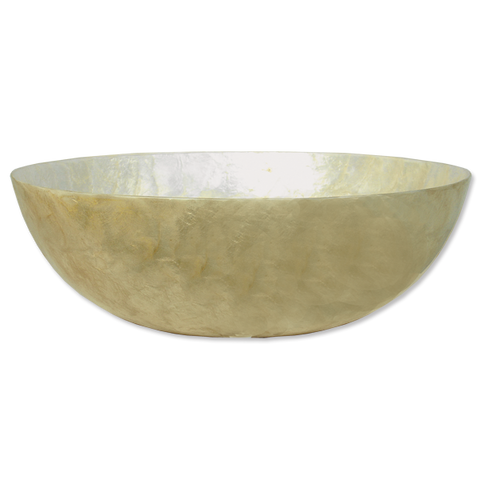 Cream Capiz Shell Salad Bowl