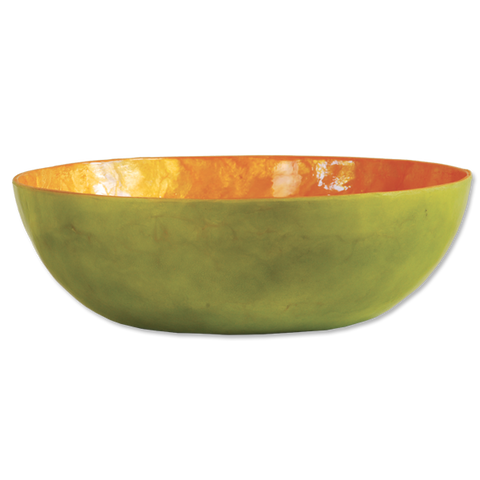 Fiesta Citrus Capiz Shell Salad Bowl