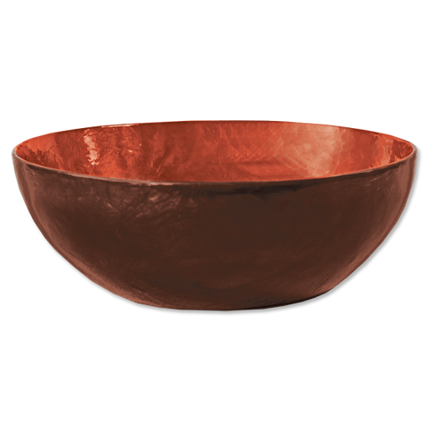 Red Maroon Capiz Shell Salad Bowl