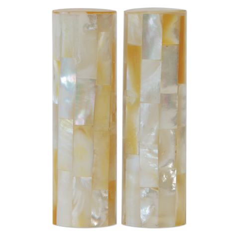 Large Mother of Pearl Salt & Pepper Shakers