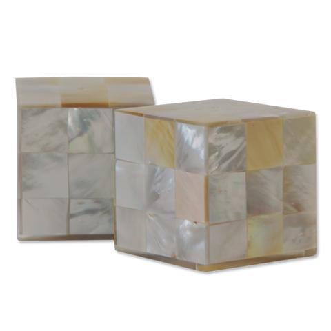 Small Mother of Pearl Salt & Pepper Shakers
