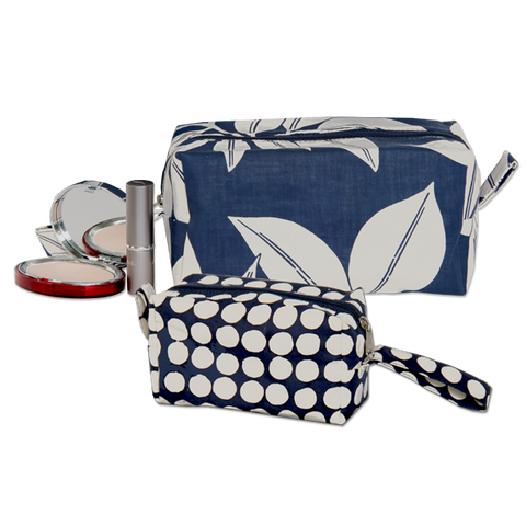 Set of 2 Mood Indigo Cosmetic Cases