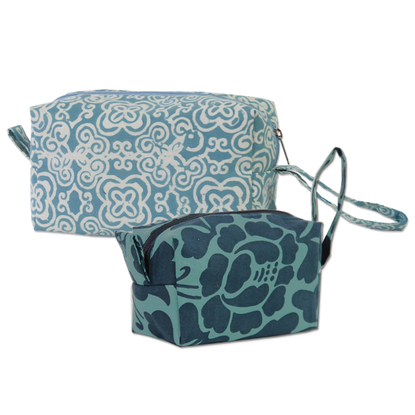 Set of 2 Teal Cosmetic Cases