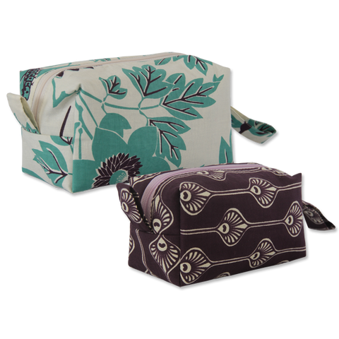 Set of 2 Peacock Cosmetic Cases