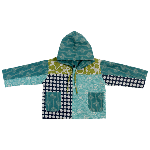 Scrappy Baby Hoodie - Cool Tones in 2 sizes
