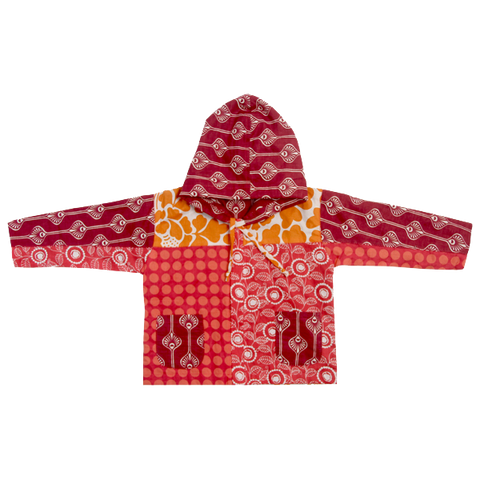 Scrappy Baby Hoodie - Warm Tones in 2 sizes